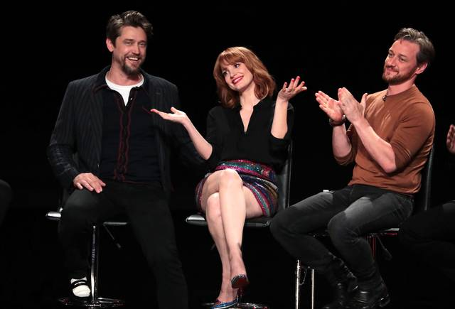 IT CAPITOLO DUE_Taylor Frey James McAvoy Jessica Chastain_conferenza stampa 3
