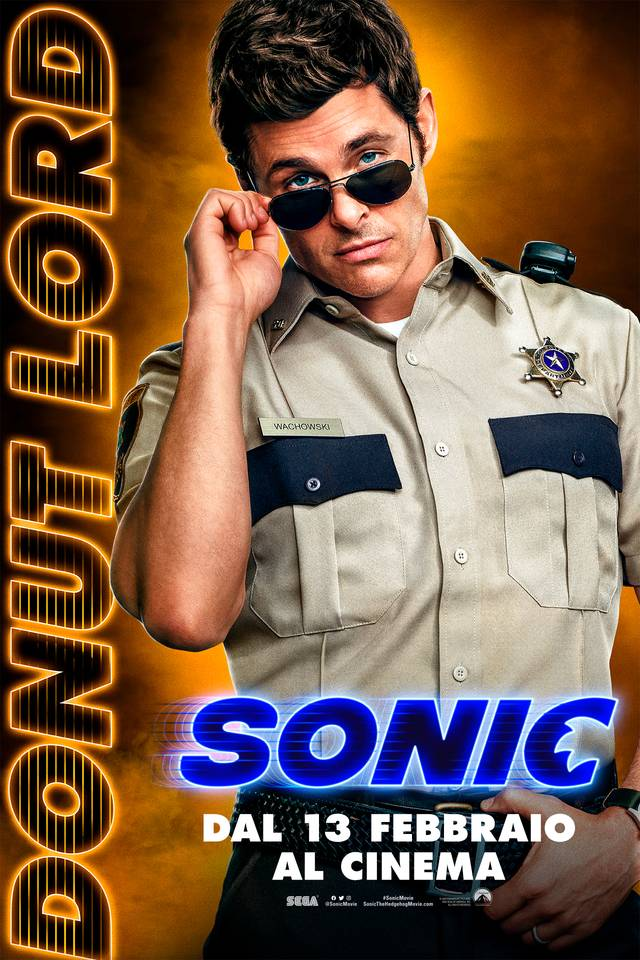Sonic - Il Film Teaser Character Poster Italia 1