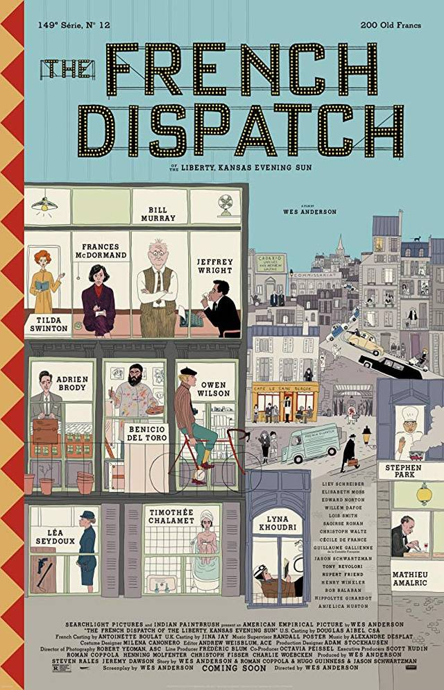 The French Dispatch Poster USA