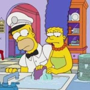 Il gelato di Marge (dai capelli azzurri)
