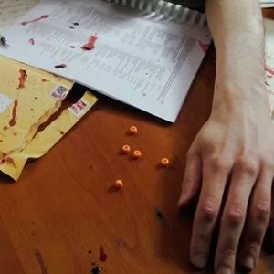 Cinque perline arancioni