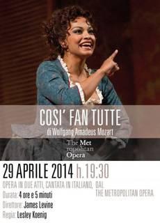 The Metropolitan Opera di New York: Così Fan Tutte