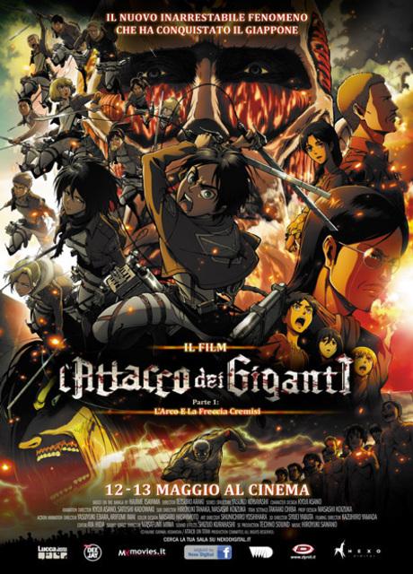 L'attacco dei giganti il film Parte I - L'arco e la freccia cremisi