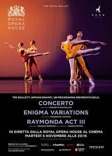 The Royal Ballet Triple Bill (Programma Triplo) novembre 2019