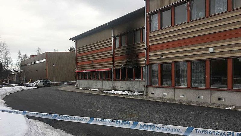 Brand på skola i Norrbotten