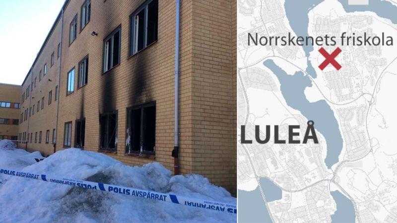 Nyinvigning av skola efter anlagd brand