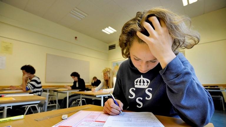 Nationella provet i engelska har spridits i sociala medier