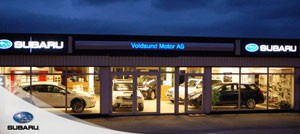 Fasade: Voldsund Motor AS
