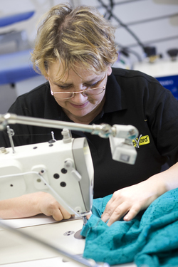 Seamstress at work in Milton Keynes