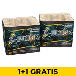 X-block 1+1 Gratis NIEUW