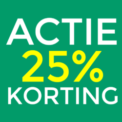 Opruiming 25% korting
