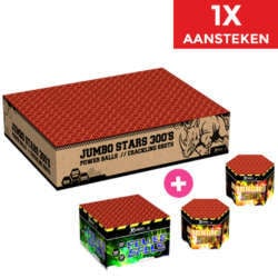 Jumbo Stars + Power Balls + Crackling Shots NIEUW