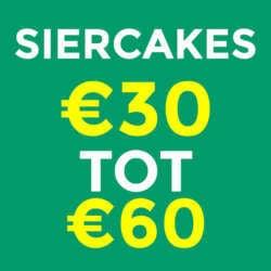 Siercakes €30 tot €60