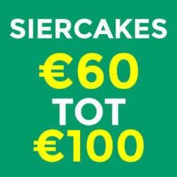 Siercakes €60 tot €100