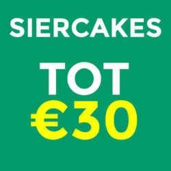Siercakes tot €30