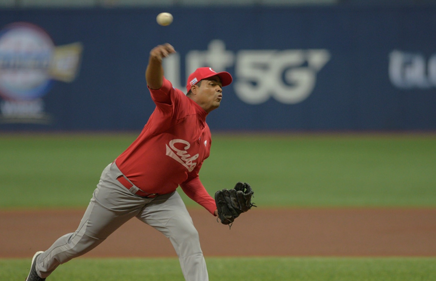 Juan Carlos Viera pitched five solid innings for Cuba