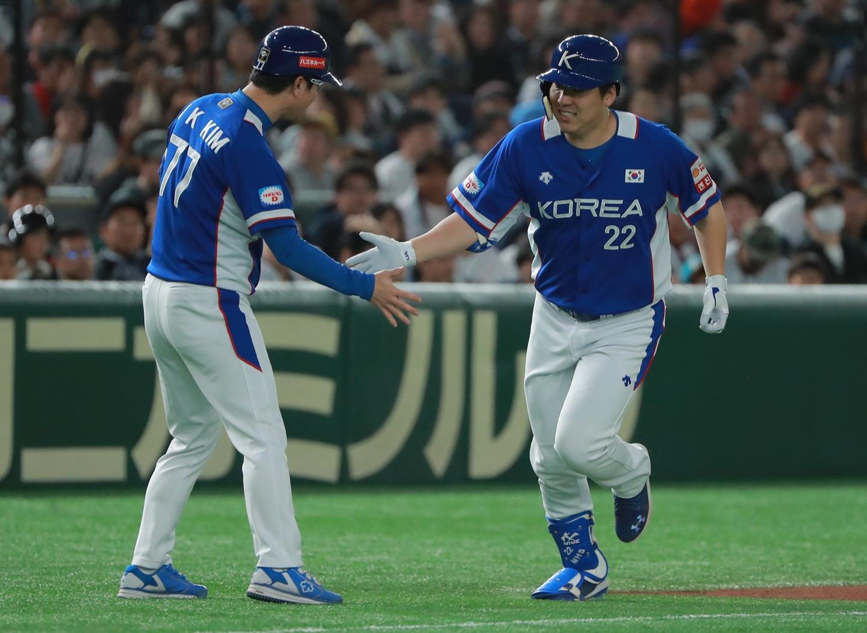 Korea took a quick lead on home runs by Kim Ha-seong and Kim Hyun-soo
