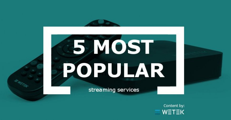 The 5 Most Popular Streaming Services