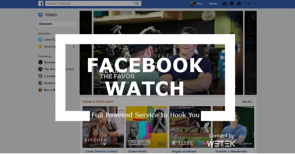 Facebook Watch is full powered to get you hooked