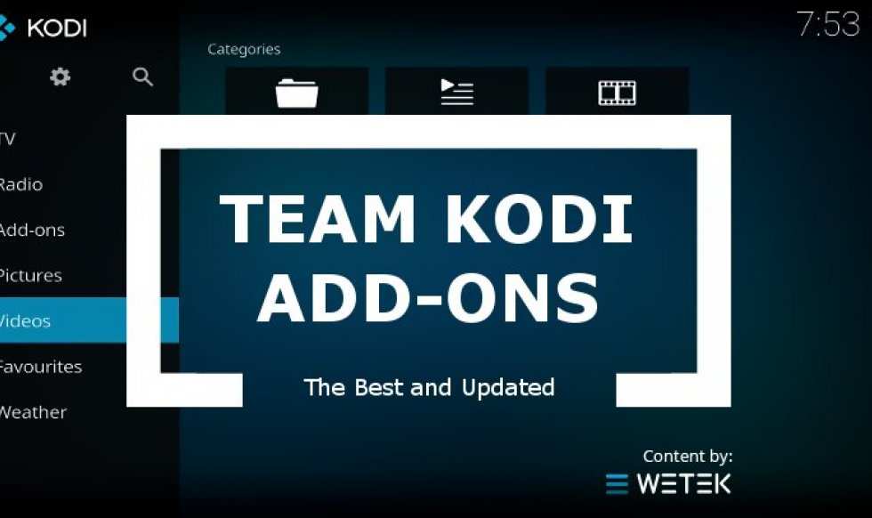 Team Kodi Best Add-ons