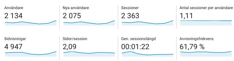 Målgruppsstatistik i Google Analytics