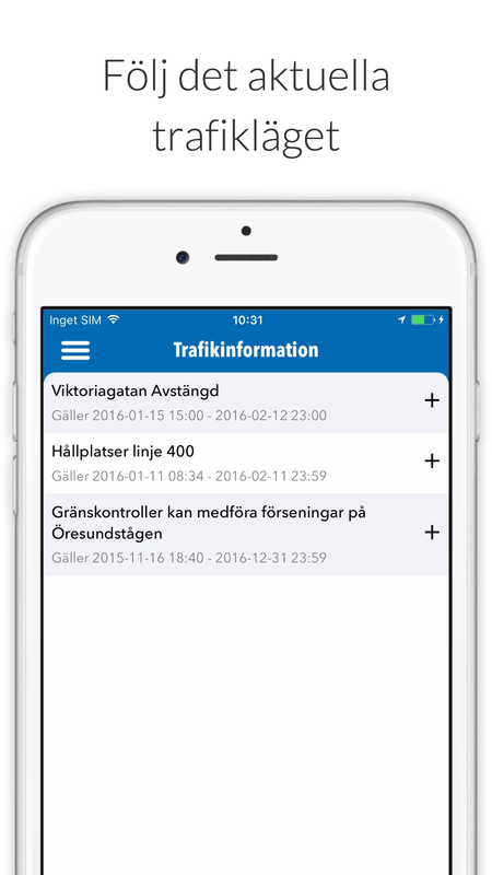 Trafikinformation mobilapp