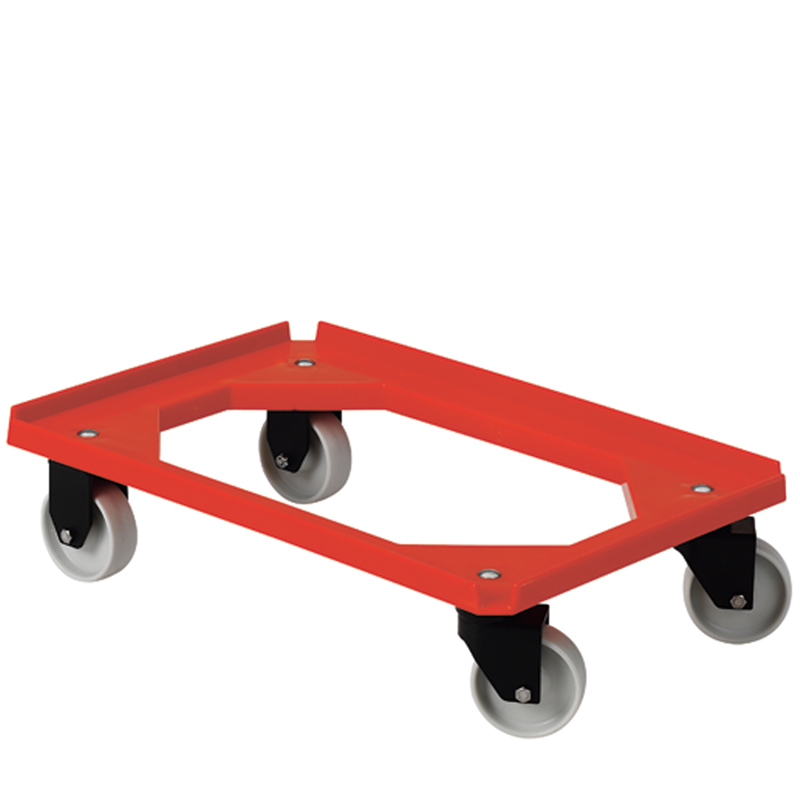 Backvagn plast röd, för brödback