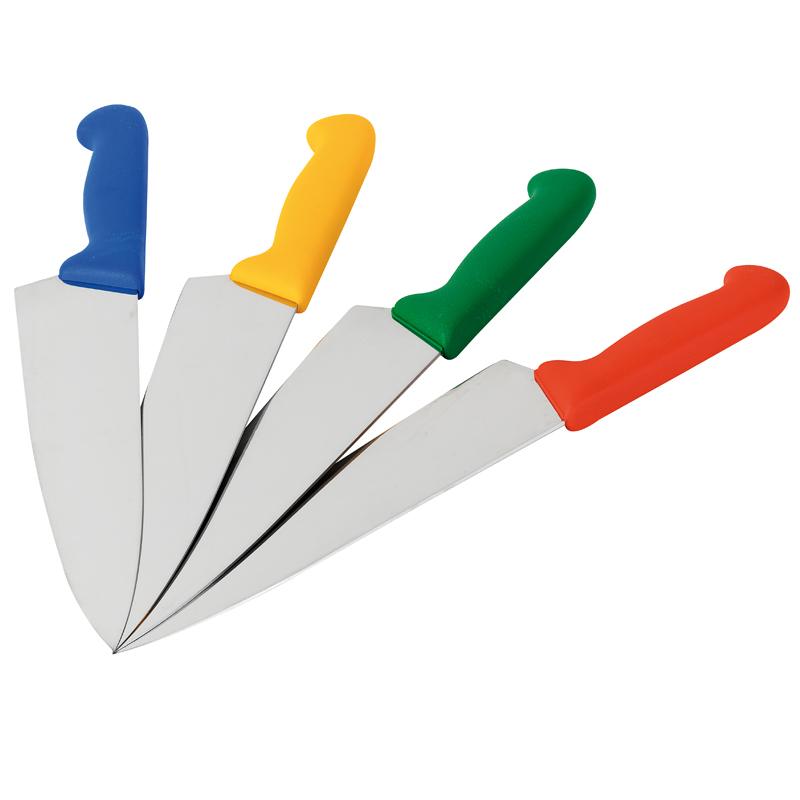 Kockkniv, rött handtag 260 mm
