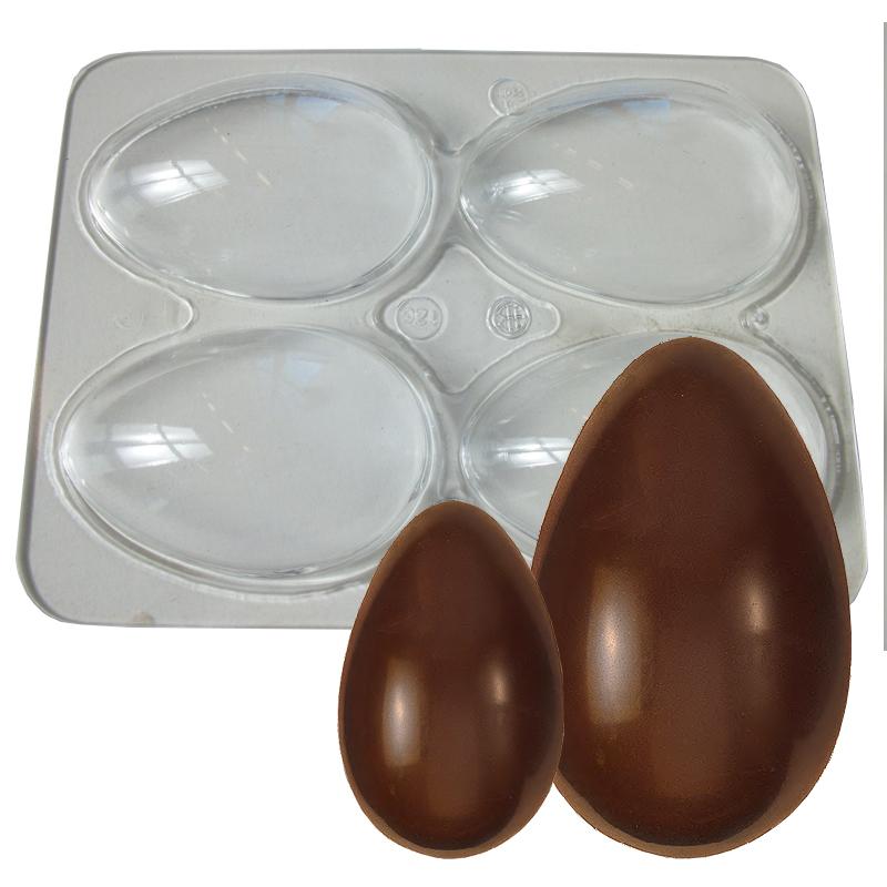Ägg. Slätt. 4-del.  80 mm