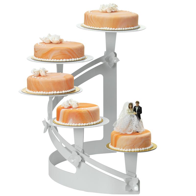 Tårtställning, V-svängd, vitlack