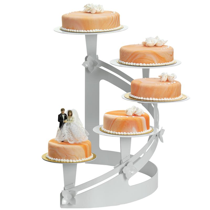 Tårtställning, H-svängd, vitlack