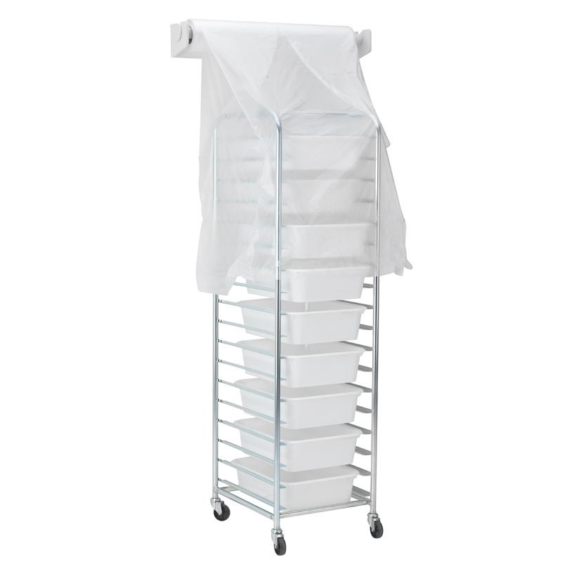 Skyddshuv, plast, rulle, 100-pack, 600x450 mm