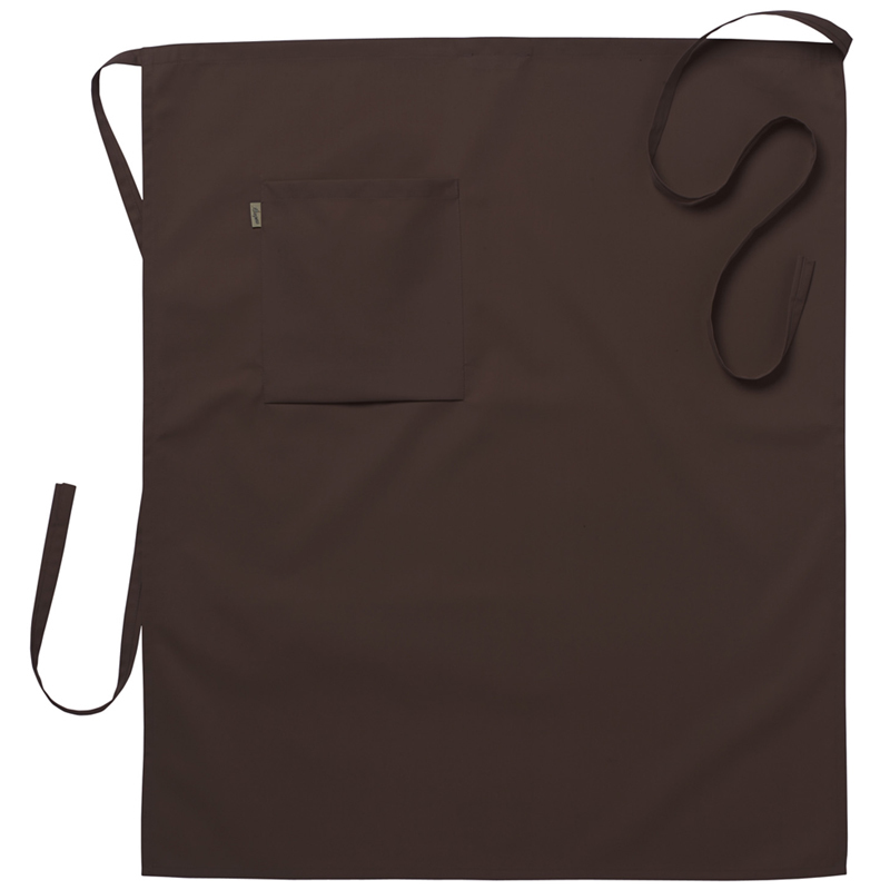 Midjeförkläde 75x85 cm brun