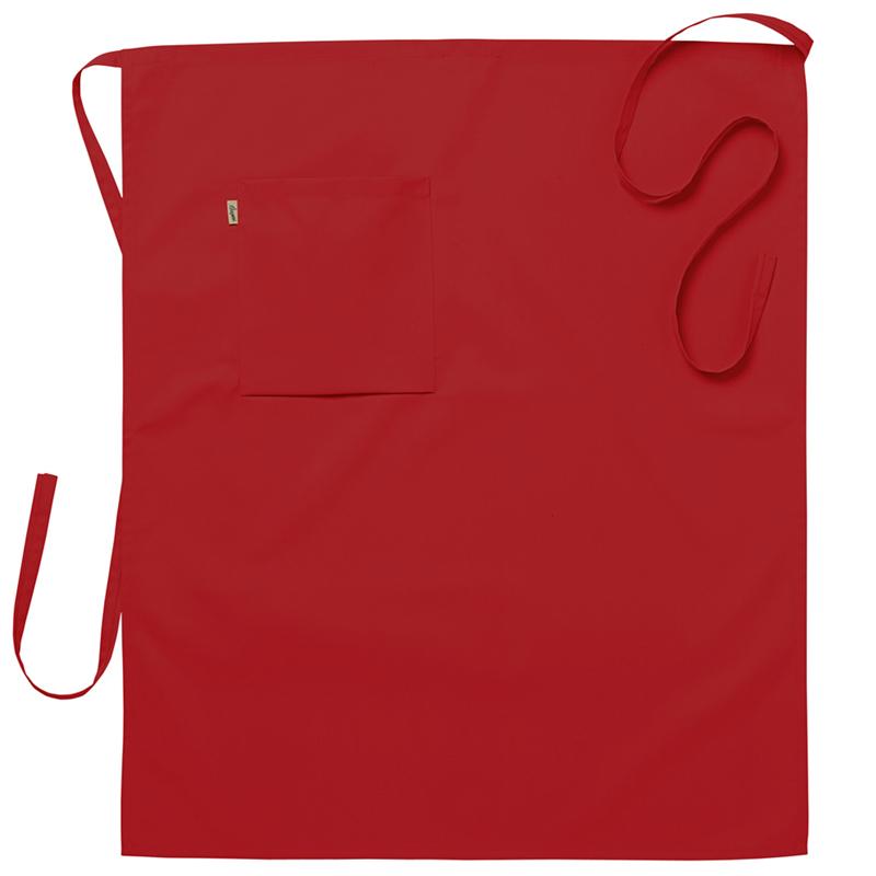 Midjeförkläde 75x85 cm röd