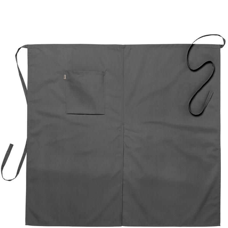 Midjeförkläde 100x95 cm grå