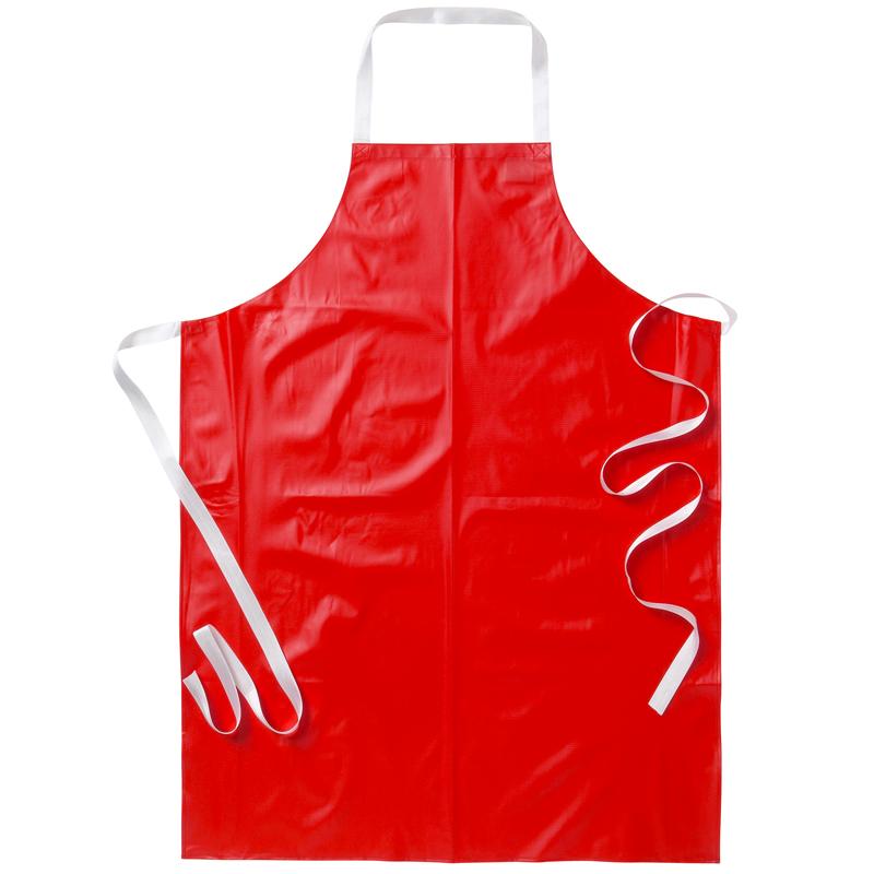 Förkläde röd galon livsmedel