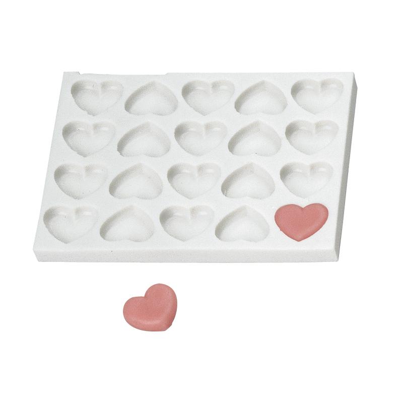 Hjärtform, sil.gum. 20-d.