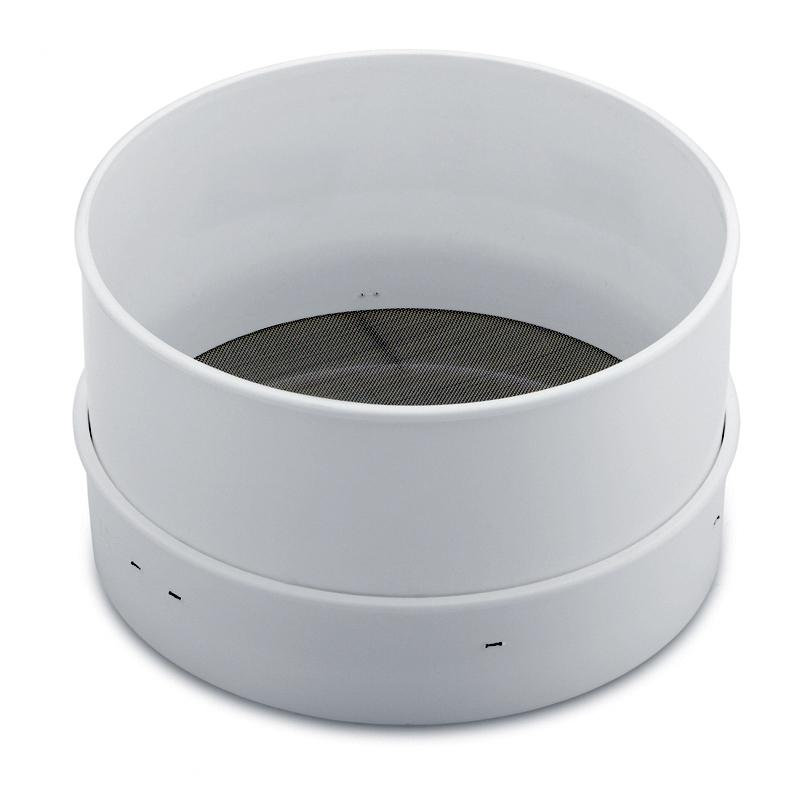 Pudersikt, plast  185 mm hålstl: 0,4 mm