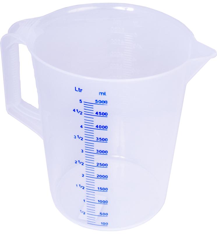 Köksmått, plast 5 lit
