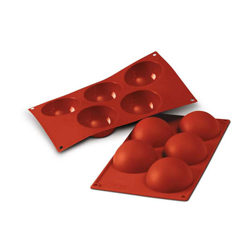 Siliconflex rund/halvkula D=80x40 mm 5 fig 3-pack