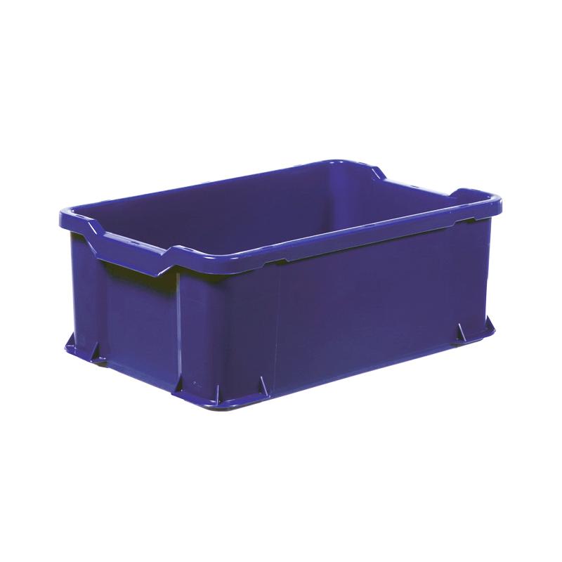 Plastback, blå, 600x400x225 mm, 40 L