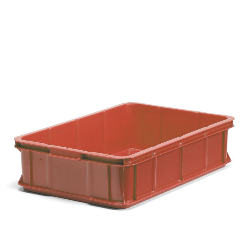 Plastback röd, 600x400x147mm