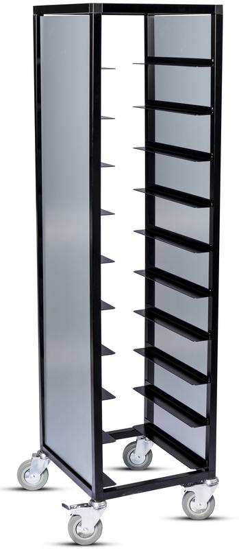 Brickvagn, enkel 280x360 mm, svart, grå sida