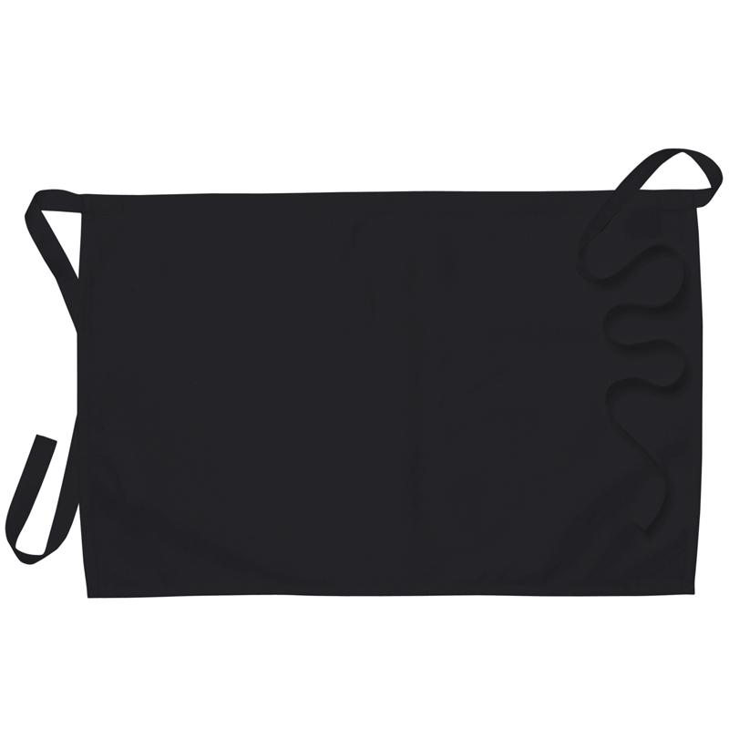 Midjeförkläde svart B75xL50 cm