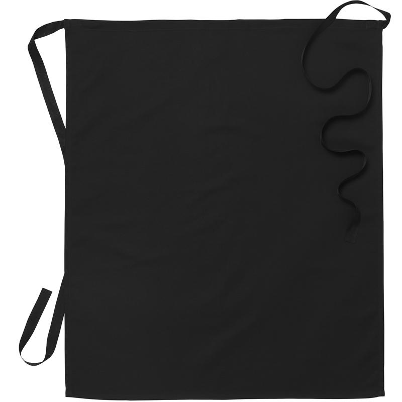 Midjeförkläde svart B75xL85 cm