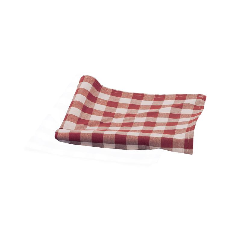 Duk röd/vit rutig 75x75 cm