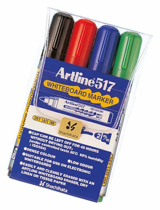 Färgpen. 4-set, 2,0 mm rund spets