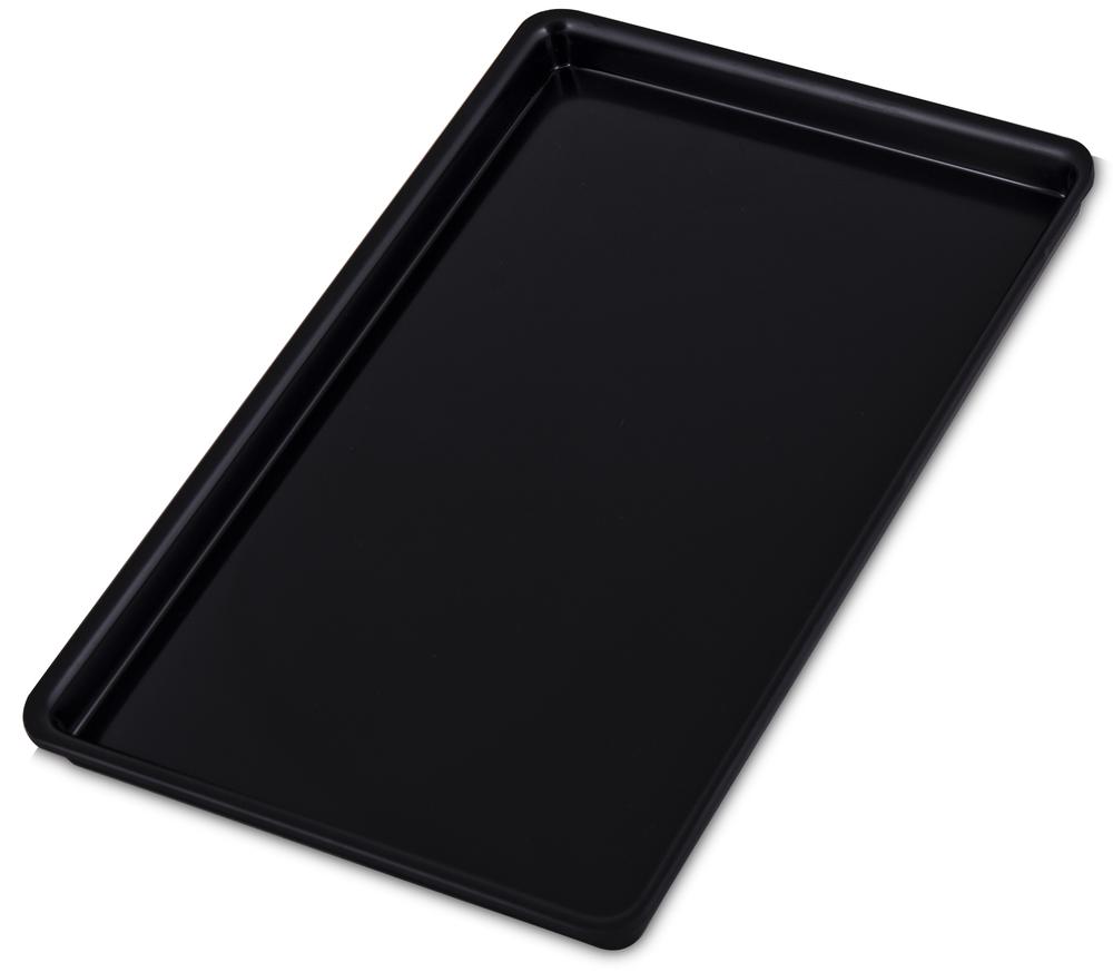 Uppläggningsfat svart plast 300x190 mm
