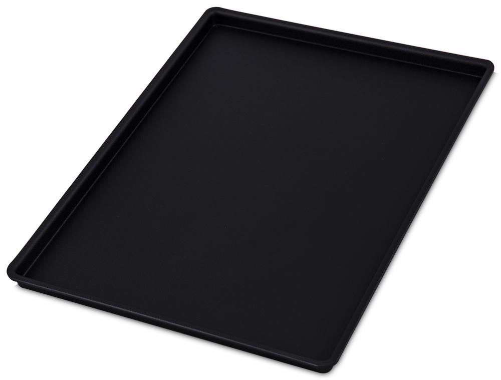 Uppläggningsfat svart plast 300x400 mm