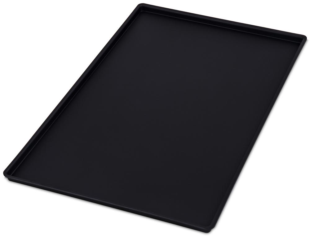 Uppläggningsfat svart plast 600x400 mm